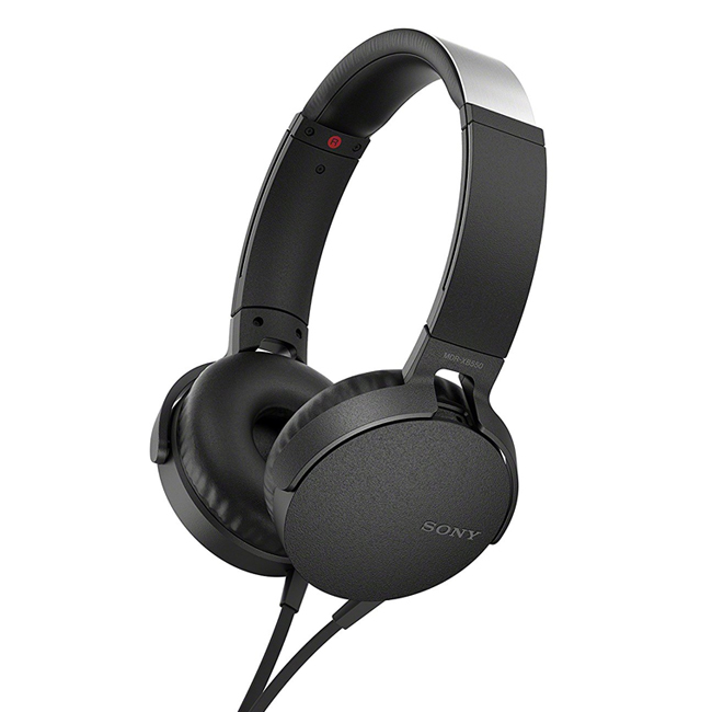 Sony XB550AP Extra Bass On-Ear Headphone (Black)
