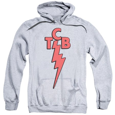 ELVIS/TCB-ADULT PULL-OVER HOODIE-ATHLETIC HEATHER-LG