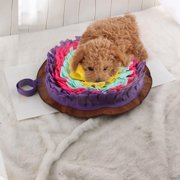 Round Dog Snuffle Feeding Mat Washable Training Piecing Blanket Pet Playing Toy Encourages Natural Foraging Skills Mat