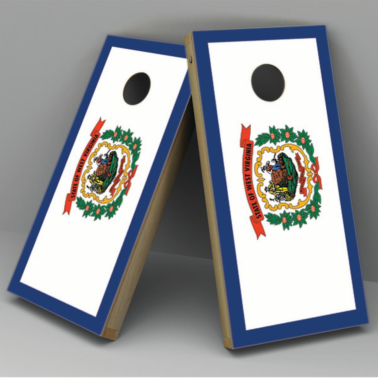West Virginia Flag Cornhole Board Vinyl Decal Wrap