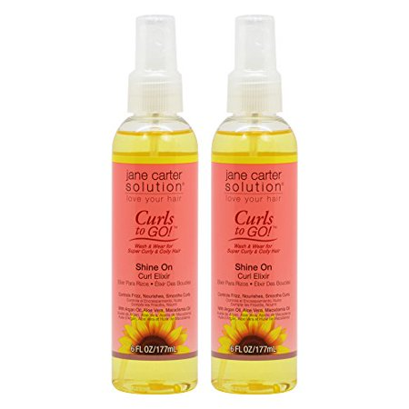 Jane Carter Curls To Go Shine On Curl Elixir 6Oz   177Ml  Pack Of 2