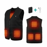 Aiper Heated Vest Washable Cold-proof Heating Clothes with USB Power Pack for Outdoor Campaigns (XL)