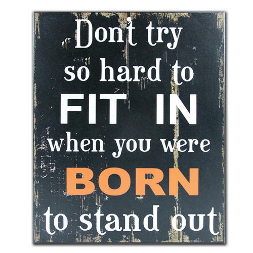 African American Expressions Born to Stand Out Textual Art Plaque