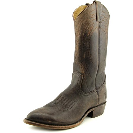 Frye Billy Pull On Men  Pointed Toe Leather Brown Western Boot