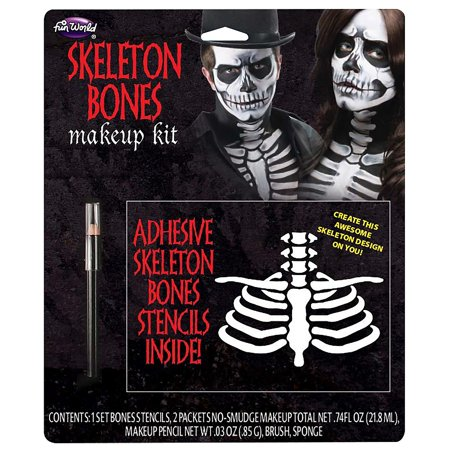 Skeleton Bones Halloween Makeup Kit - Skeleton Makeup For Guys
