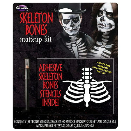 Skeleton Bones Halloween Makeup Kit - Rockabilly Halloween Makeup