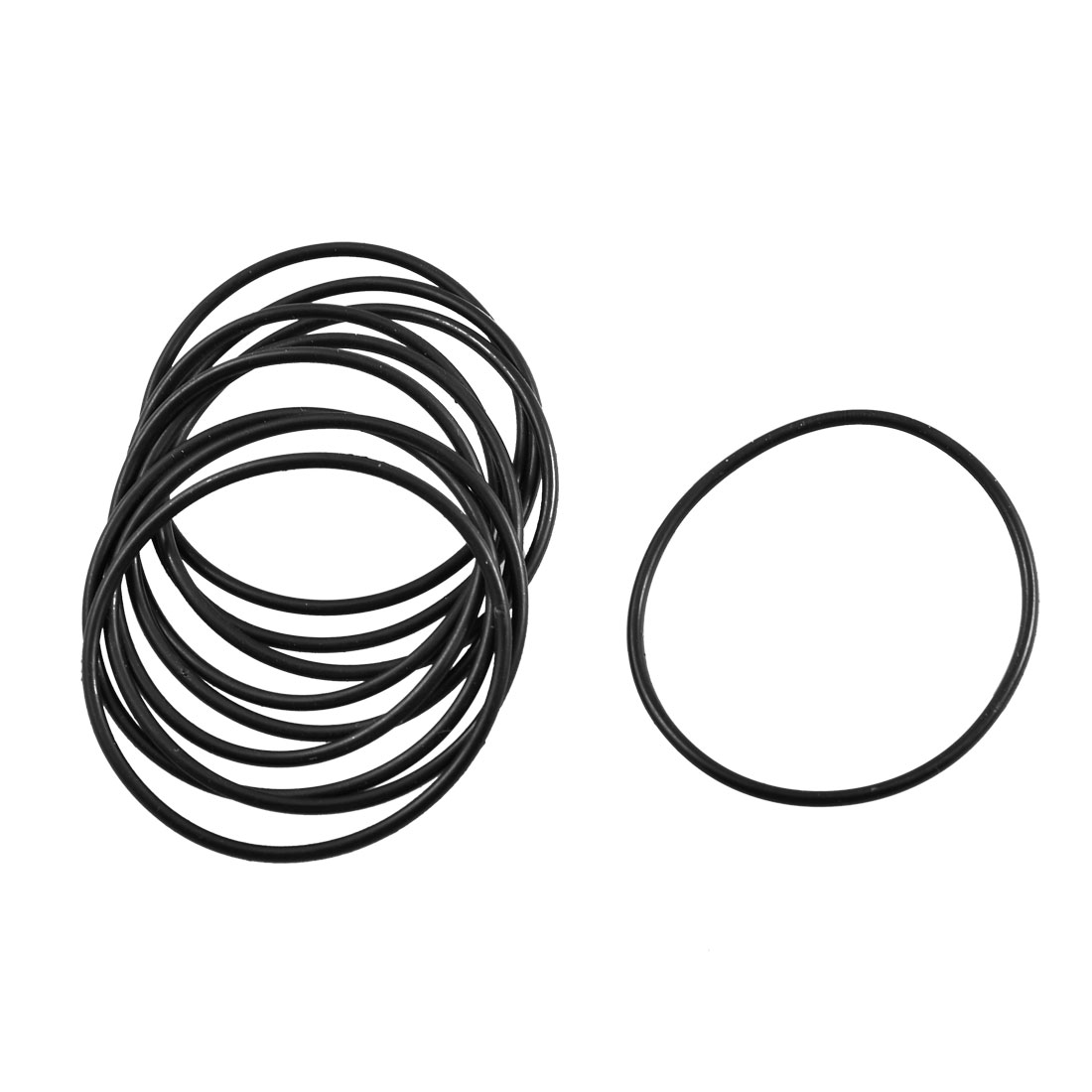 Unique Bargains 10 Pcs 41.2mm Inside Dia 1.8mm Thick Rubber Oil Sealing Gasket O Ring