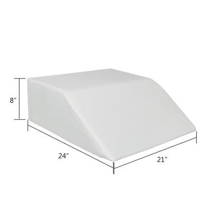 UBesGoo Best Wedge Pillow Elevating Memory Foam Leg Rest Pillow for Comfy Sleeping