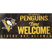 "Pittsburgh Penguins 6"" x 12"" Fans Welcome Sign"
