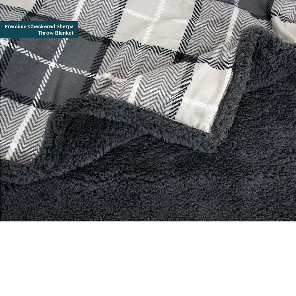 Lightweight Microfiber Light Gray, 50 x 60 Inches Cozy Reversible All Season for Couch or Bed PAVILIA Premium Fleece Sherpa Throw Blanket Super Soft