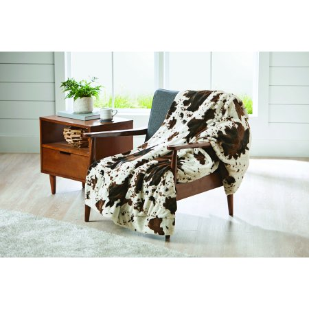 Cow Decor - Better Homes and Gardens Cowhide Faux Fur Throw Blanket