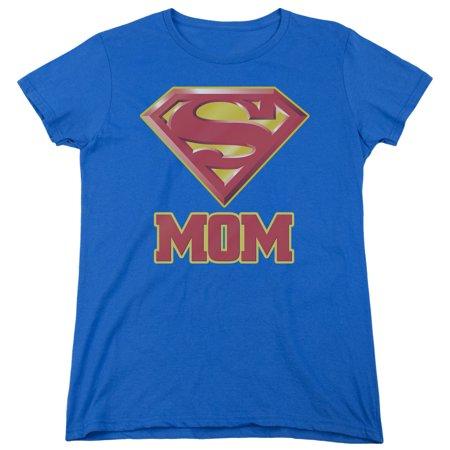 Superman Super Mom Womens Short Sleeve - Superman T Shirt For Womens