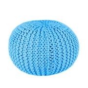 DecorFreak Blue Thick Cotton Rope Pouf