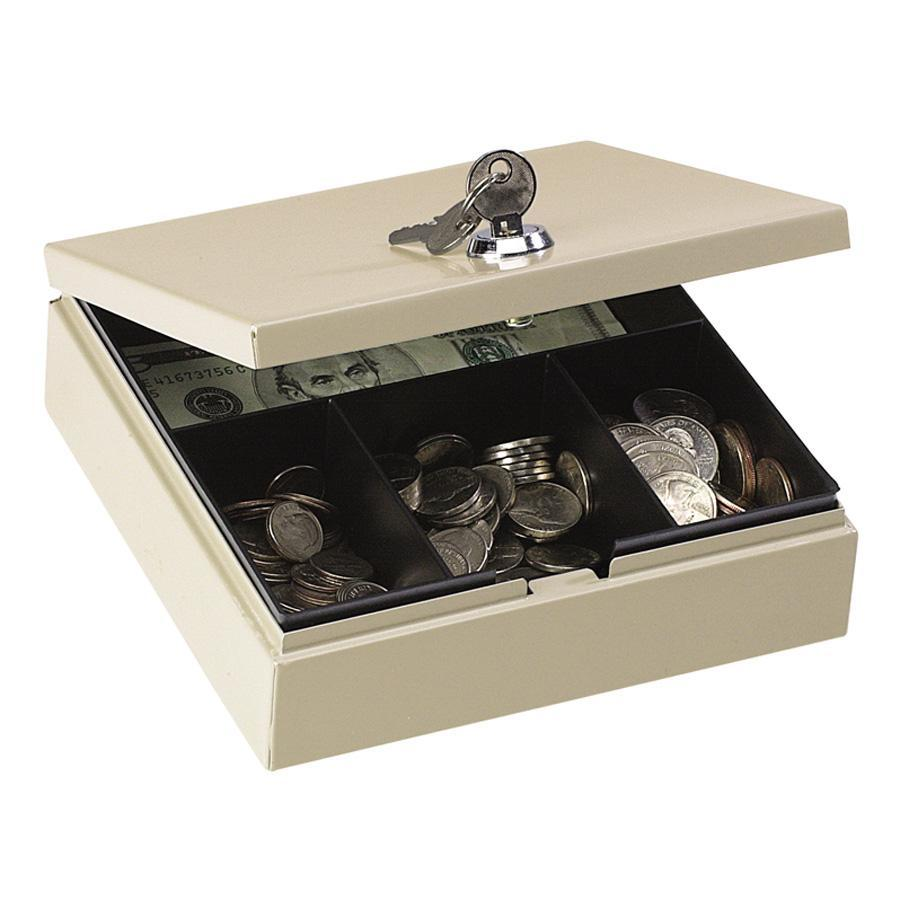 PM, PMC04962, Steel In-Drawer Personal Security Box, Beige