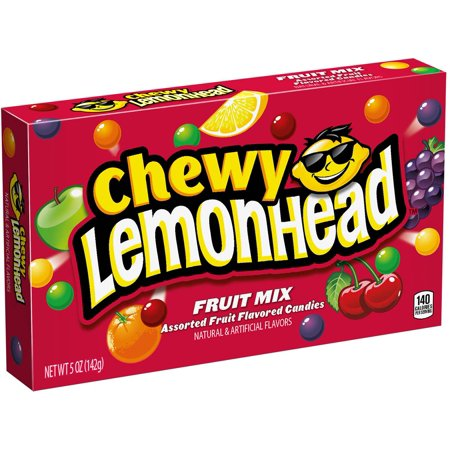 Chewy Lemonhead Assorted Fruit Mix Candy Theater Box Case 5oz (PACK OF 15)