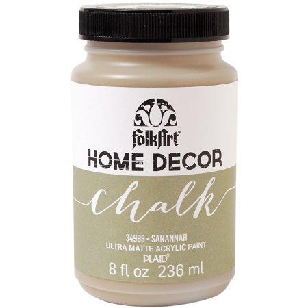 Folkart home decor chalk paint 8oz savannah for Home decor chalk paint