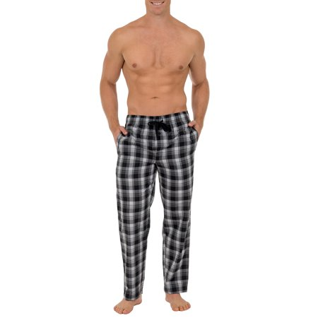 Fruit of the Loom Men's and Big Men's Microsanded Woven Plaid Pajama Pants