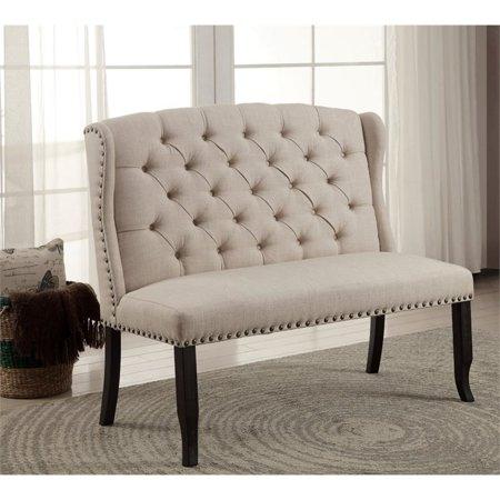 Furniture Of America Stanton Fabric Settee In Beige Walmart Com