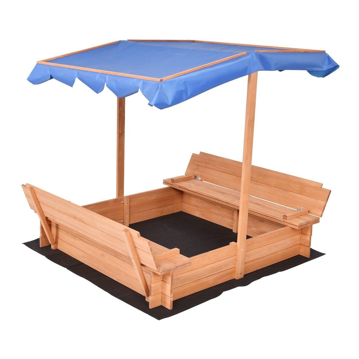 New MTN-G Beach Cabana Sandbox Retractable w/ Canopy Benc...