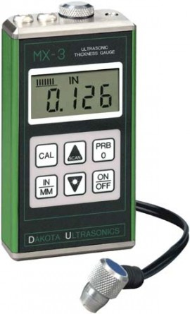 "Dakota Ultrasonics MX-3 Thickness Gauge, Ultra Sonic, 0.025""-19.99"" by DAKOTA"