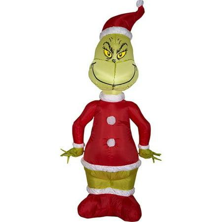 Grinch Santa Airblown Christmas Decoration