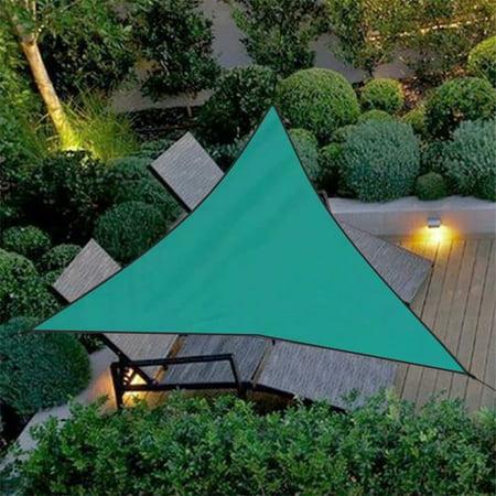 VicTsing Outdoor Waterproof Triangular UV Sun Shade Sail Combination Net  Triangle Sun Sail Tent Camping Garden Garden Patio Swimming Pool,Dark Green