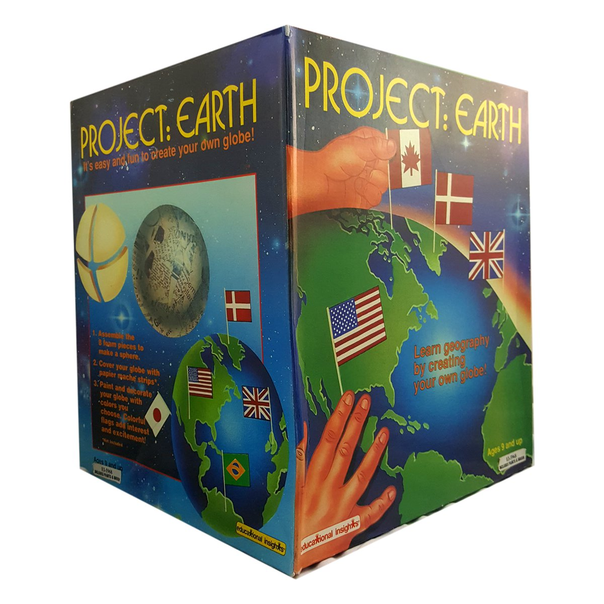 Educational Insights Project: Earth Learn Geography By Creating Your Own Globe Ages 9 And Up