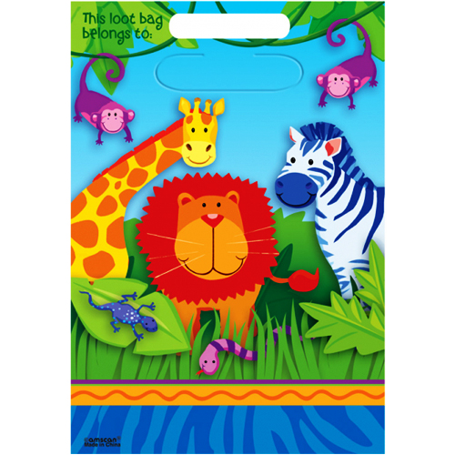 Jungle Animals Favor Bags (8ct)*