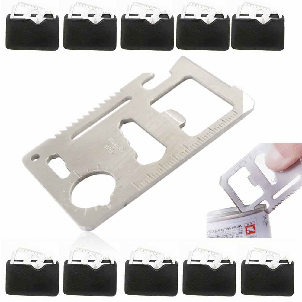 10 Pc 11 In 1 Multifunction Tool Pocket Hunting Survival Camping Card Knife Gift