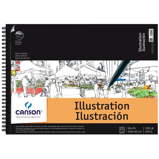 Canson Artist Series Illustration Wire Bound Pad - 15 Sheet
