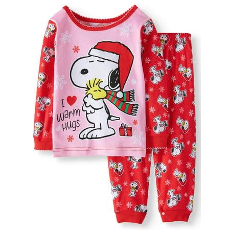 df1bc59ede2e Snoopy Christmas Long Sleeve Tight Fit Pajamas
