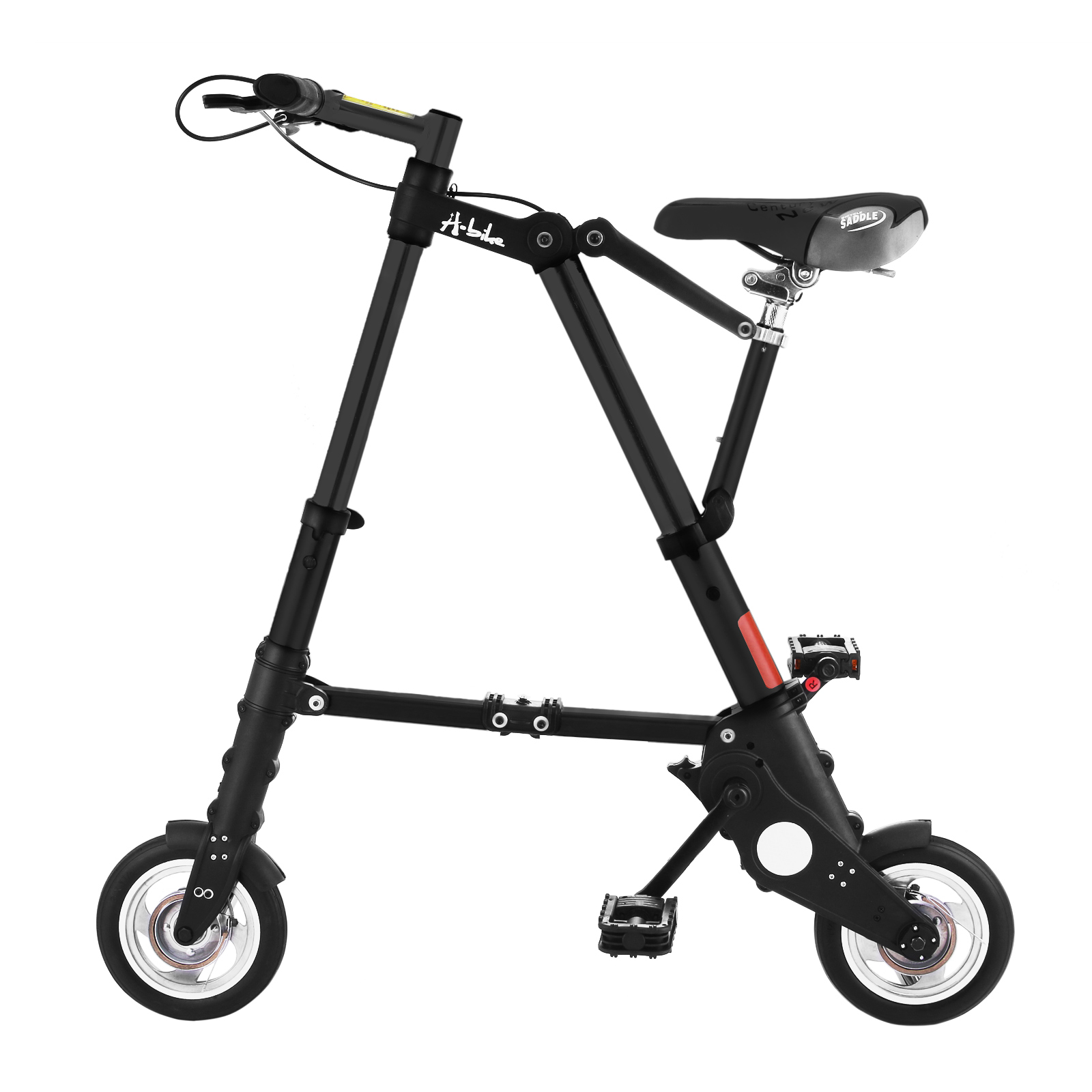 Vevor Black Foldable Mini Bike 8 Inch Folding Bike Aluminum