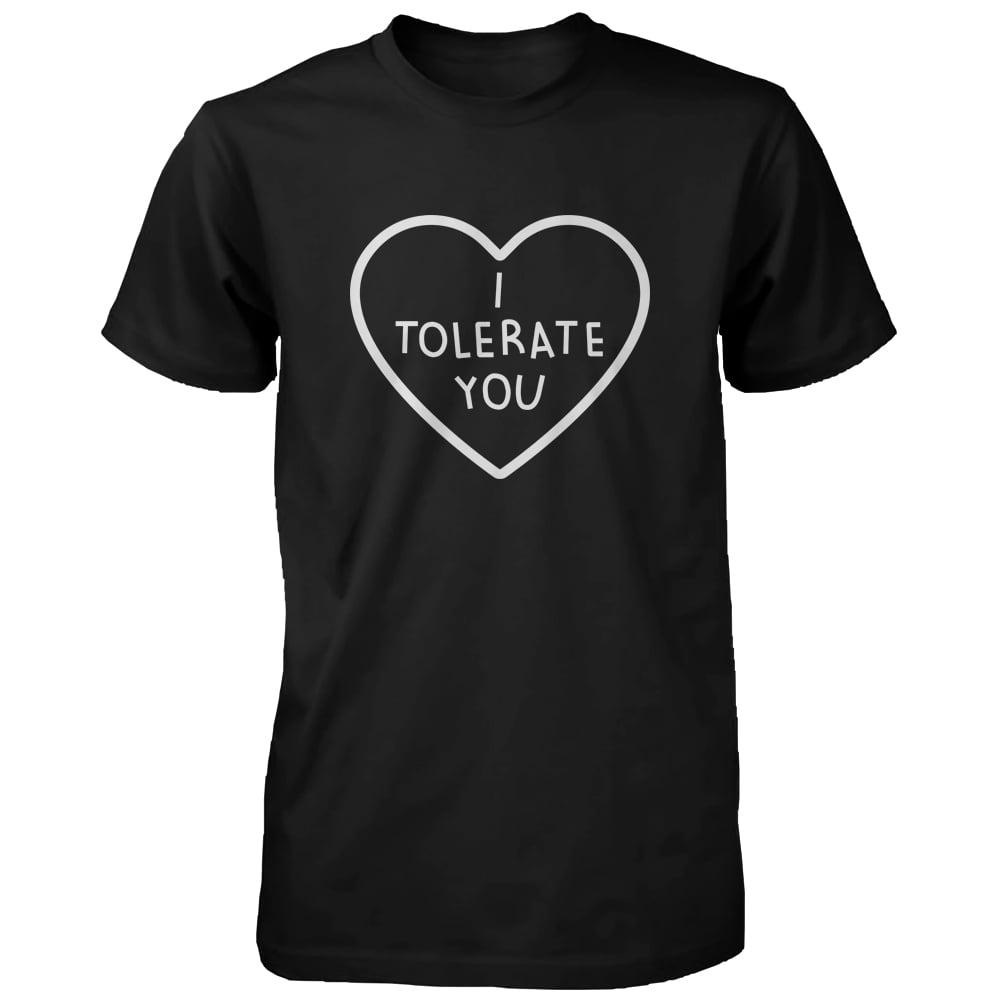 ee263b650 365 Printing inc - I Tolerate You Women's Cute Graphic Shirt Black Short  Sleeve Tee Trendy Tshirt - Walmart.com