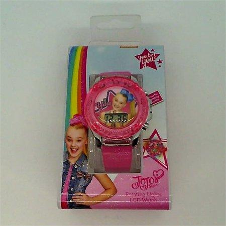 Girls Nickelodeon JoJo Siwa Flashing LCD Watch - Pink