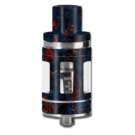 Skins Decals For Smok Micro Tfv8 Baby Beast Vape Mod / City Glow At Night Skyline View - Glow City Com