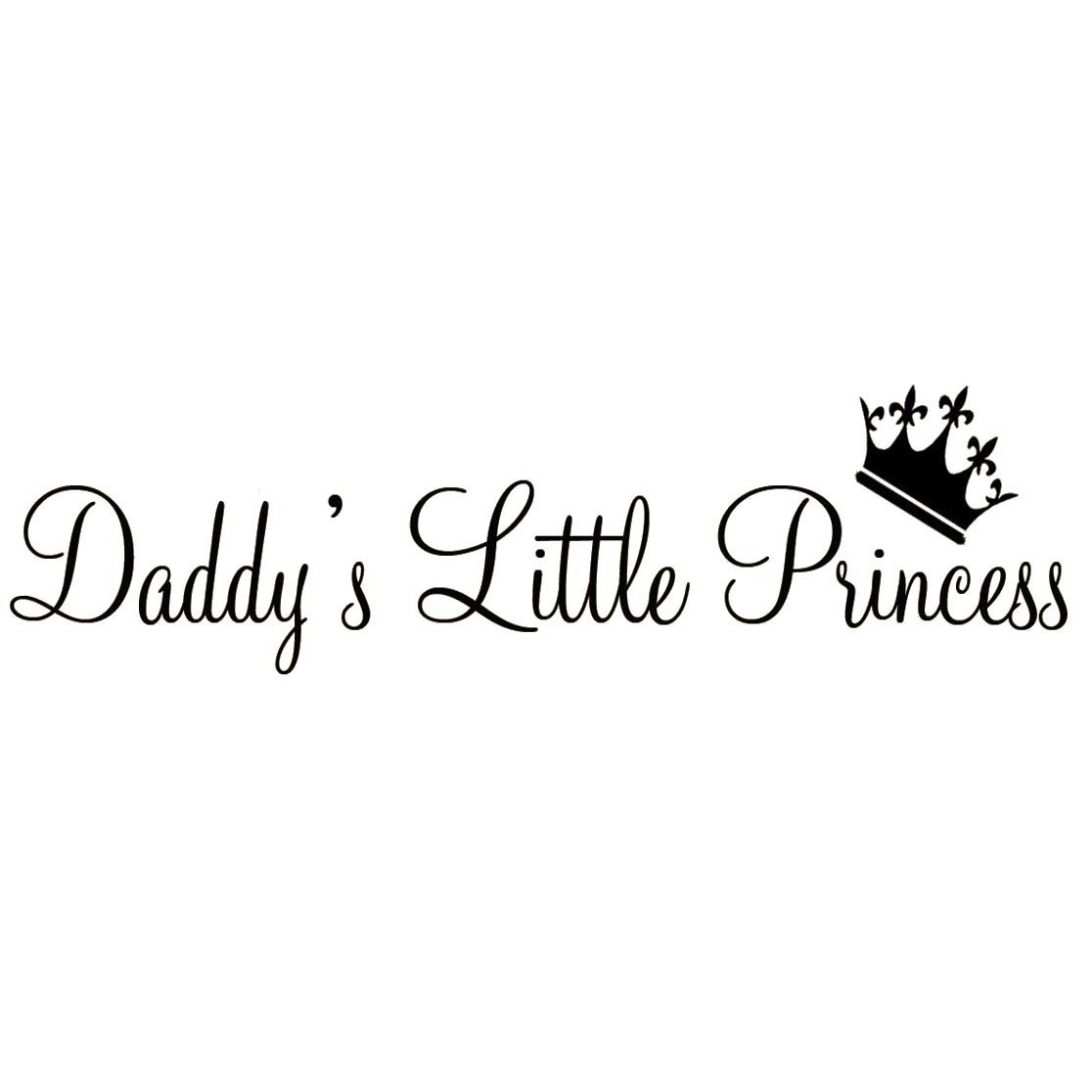Vwaq Daddys Little Princess Nursery Wall Decals Cute Baby Quote