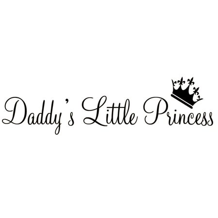 VWAQ Daddy's Little Princess Nursery Wall Decals Cute Baby Quote Vinyl Wall Art Quotes Nursery Baby Girl Room Decor