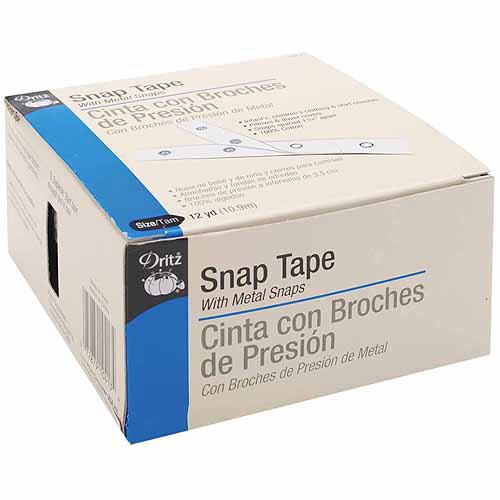 Dritz White Snap Tape, Size 4/0, 12 yds