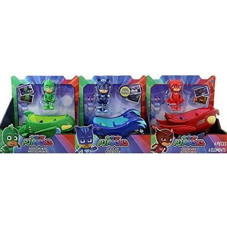 - PJ Masks Die-Cast Car- 3pk including Cat Boy, Owlette & Gekko