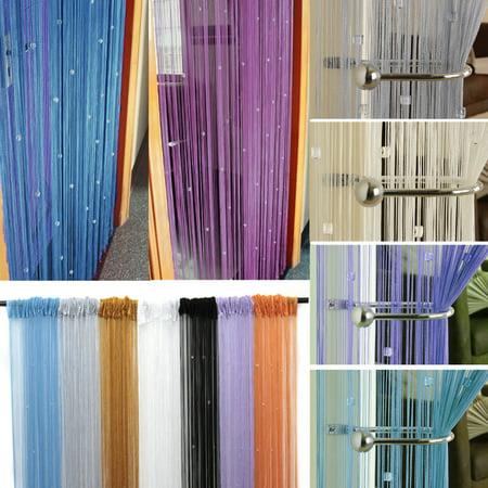 79x39 Drop Beaded String Curtains Room Divider Door Window