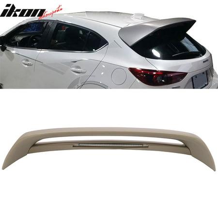 Fits 14-18 Mazda 3 5 Door Hatchback Roof Spoiler Mazdaspeed Style MS MZ