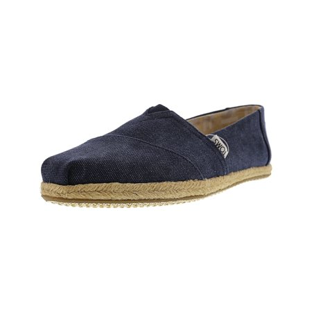 bc6fdb96969 Toms - Toms Women s Classic Washed Canvas Rope Sole Navy Slip-On Shoes -  9.5M - Walmart.com