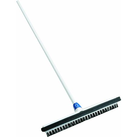 18 wipe 39 n dry floor squeegee with brush and handle for 18 floor squeegee
