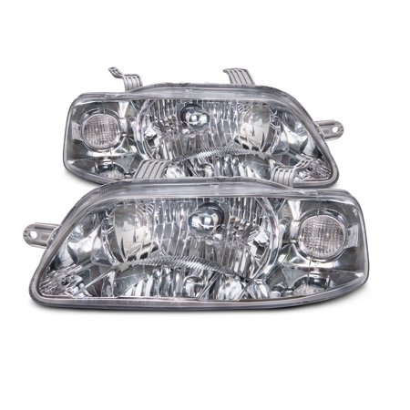 2004-2006 Chevy Aveo 4-Door Sedan (04-08 Hatchback) Headlights Set New GM2502241 & GM2503241