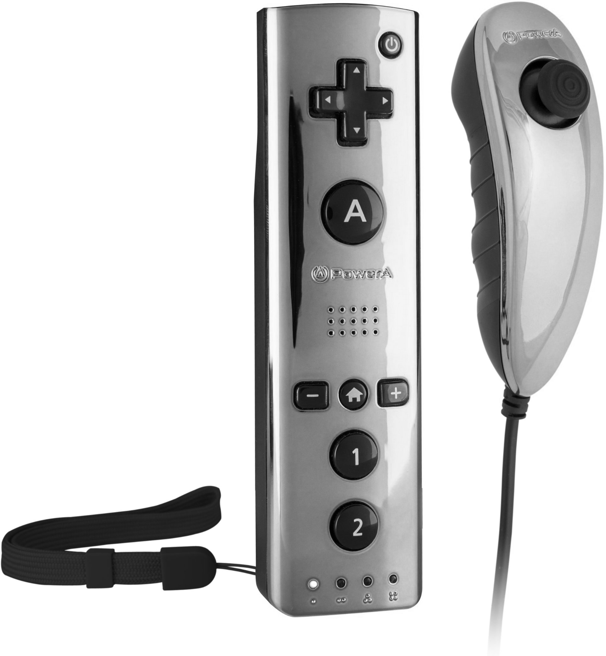 Power A Chromatic Wiimote Motion Plus Controller for Nintendo Wii/Wii U, Gun Metal (Open Box - Like New)