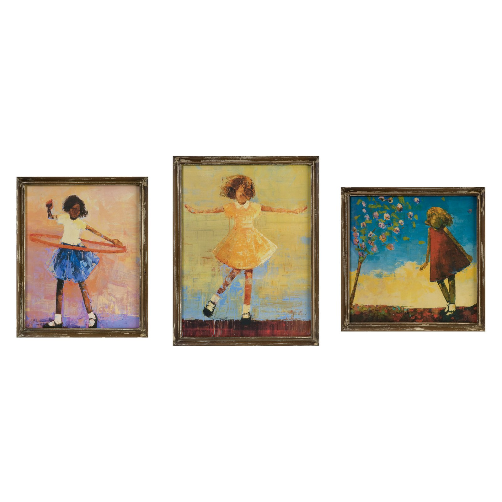 IMAX Summer Dress Wall Art Decor - Set of 3