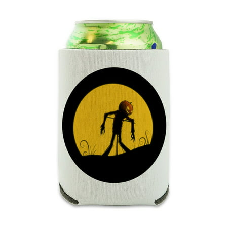 Dry Ice In Drinks For Halloween (Jack-o'-lantern Scarecrow Halloween Can Cooler - Drink Sleeve Hugger Collapsible Insulator - Beverage Insulated)