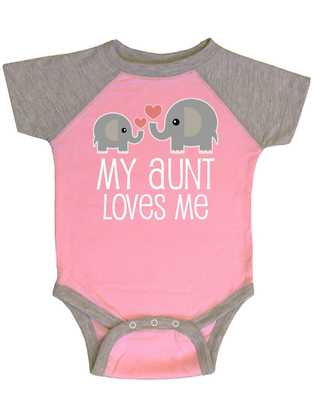 My Aunt Loves Me Niece Nephew Elephant Infant Creeper Walmart Com