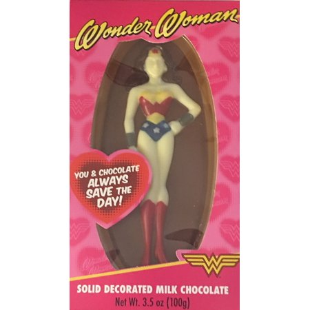 DC Comics Wonder Woman Solid Decorated Milk Chocolate, 3.5 ounces