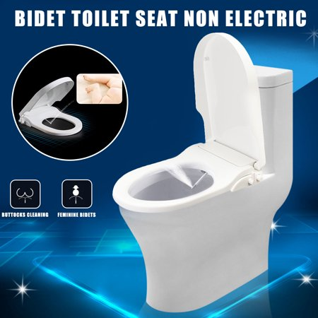 Fabulous Non Electric Adjustable Angle Bidet Toilet Seat Attachment Self Cleaning W Hose Self Cleaning Non Electric Bidet Attachment White Pabps2019 Chair Design Images Pabps2019Com